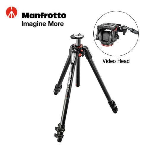 Manfrotto MT055CXPRO3+Video Head
