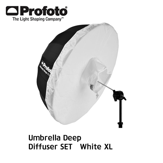 Umbrella + Diffuser SET White XL